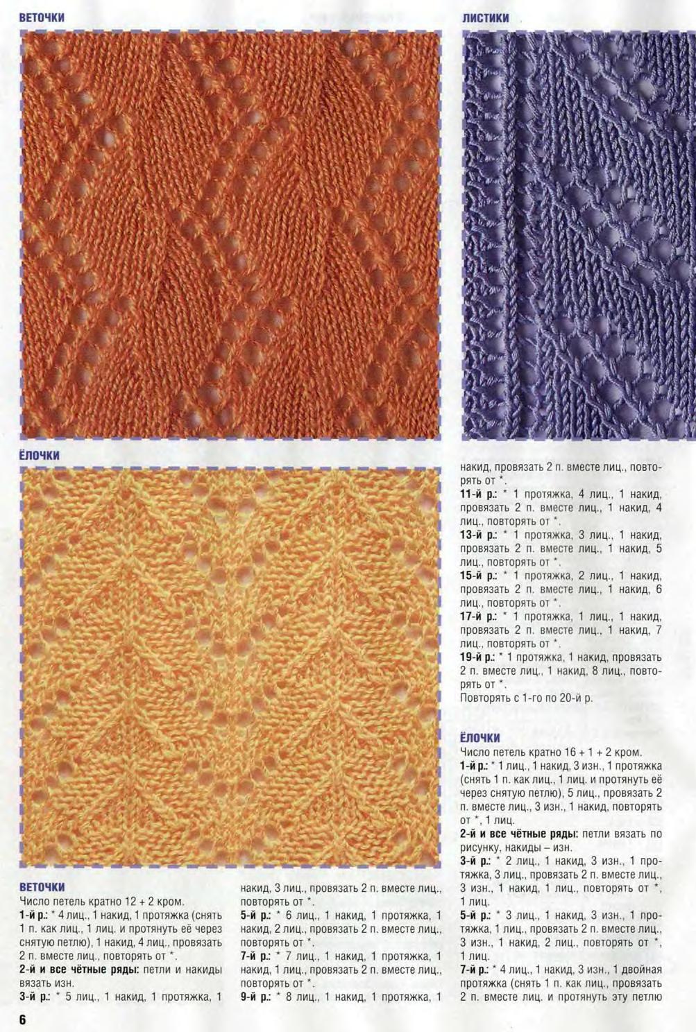 Узоры для вязания на спицах протяжка