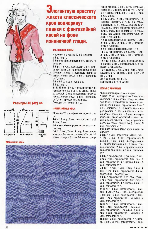 Коса из 15 петель схема с описанием
